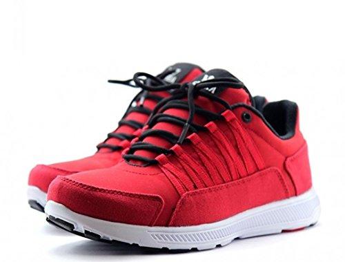 SUPRA Skateboard Shoes Owen Red / Black / White - Sneakers Red / Black / White