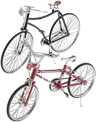 Amazon.es: perfeclan 2 Piezas 1/10 Modelo de Bicicleta, Miniatura ...