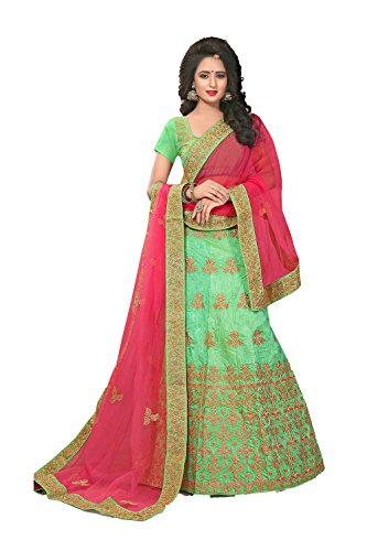Indian Designer Partywear Ethnic Traditional Green Lehenga Choli by Indianfashion Store