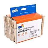 Honey-Can-Do DRY-01375 Wood Clothespins with