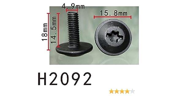 Retirador de tornillo Fender con arandela (Tamaño 5) (modelo PF-H2092) (Paquete de 10): Amazon.es: Coche y moto