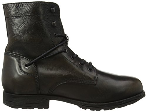 Uomo black 999 Leather Underground Cult 244 Anfibi M Mid Nero n8HPgwqYc