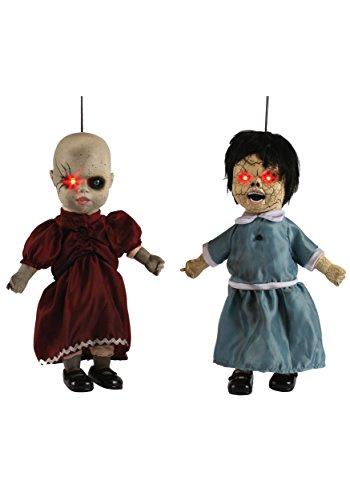 Fun World  Coffin Dead Porcelain Doll Light Accessory, -blue, (Porcelain Doll Dress Halloween)