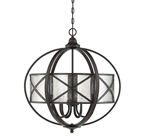 (Savoy House Holland 24 inch 6-Light Pendant in English Bronze)
