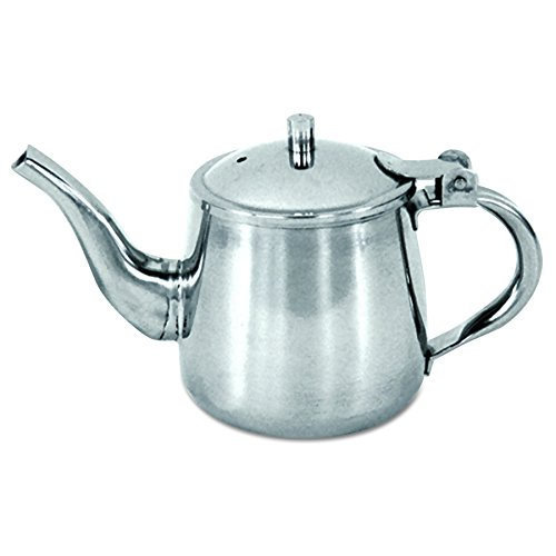 Adcraft GNP-10 10 oz Capacity, Heavy Stainless Steel Gooseneck Teapot