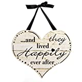 "Darice 5915-071 Happily Ever After Decor Plaque, MDF, 13.25 X 7.5 X 0.19"", Not Applicable"