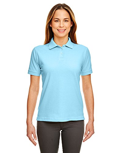 Ultraclub Ladies Classic Pique Polo 8530 -Baby Blue ()