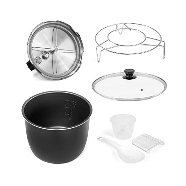 Best Choice Products 6L 1000W Multifunctional Stainless Steel Non-Stick Electric Pressure Cooker w/LED Display Screen… 5