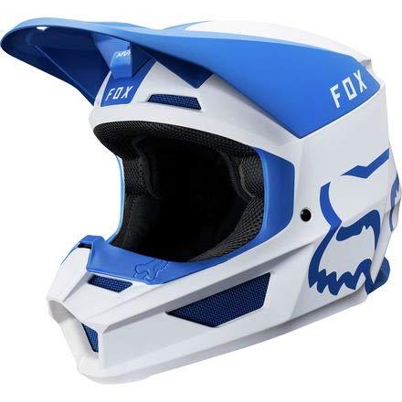 Fox Racing 2019 V1 Helmet - Mata (X-SMALL) (BLUE/WHITE) by Fox Racing (Image #1)
