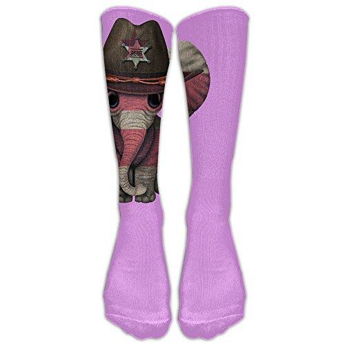 CQXIN Cowboy Elephant Washington, D.C. Football High Socks Athletic Tube Stockings