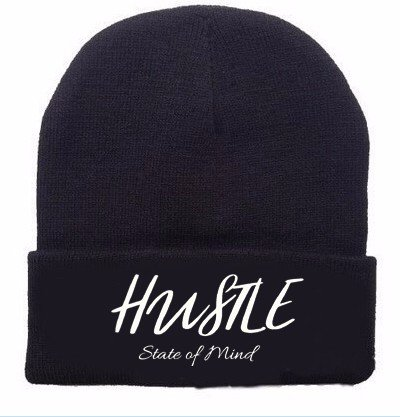 d37a696e3cf Amazon.com  Hustle State of Mind Embroidered Beanie for Women and ...