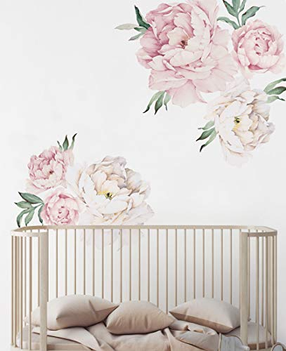 Peony Flowers Wall Sticker Vintage