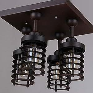 BIN Cuatro Lámparas De Techo De Hierro Forjado 2 para La ...
