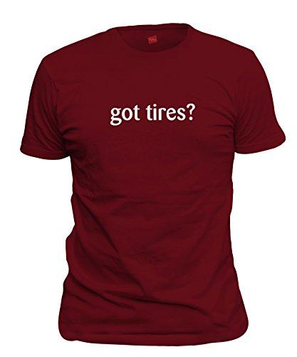 ShirtLoco Men's Got Tires T-Shirt, Cardinal Red Medium ()