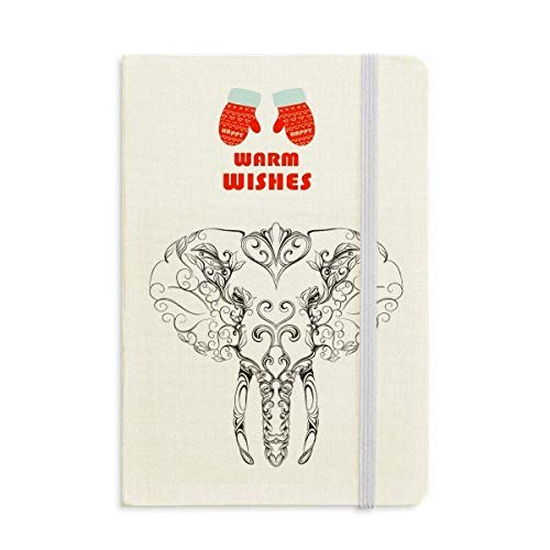 (Mammoth Elephant Animal Portrait Christmas Glove Notebook Journal Diary )