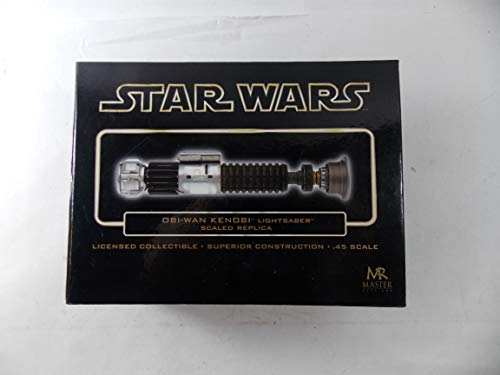 Master Replicas Star Wars Episode IV (4) New Hope 0.45 Scale Mini OBI-Wan Kenobi Gold Chase Lightsaber ()