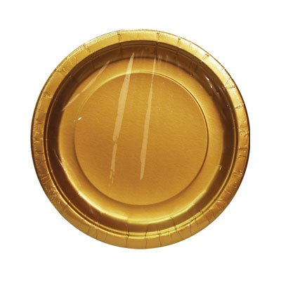 GOLD SOLID 9'' PLATE 8CT #34541, CASE OF 144 by DollarItemDirect