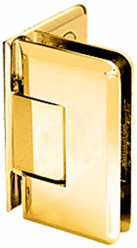 CRL Gold Plated Cologne 044 Series Wall Mount Offset Back Plate Hinge