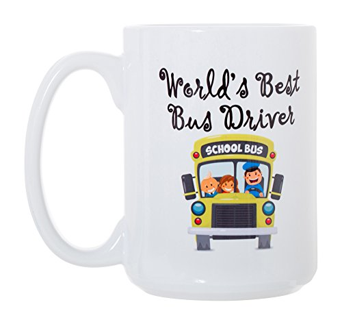 Best Bus Driver Worlds (World's Best Bus Driver Large Double-Sided Full Color Coffee Mug)