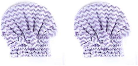 2pcs Absorberen Water Snel Droog Haar Handdoek Eenvoudige Strepen Haarkap Dikke Handdoek Worden Gebruikt Thuis Reizen Spa