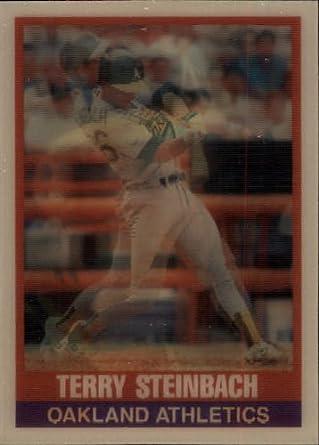 Amazoncom 1989 Sportflics Baseball Card 119 Terry Steinbach Mint