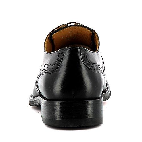 Evita Shoes Stefano Herren Schnürer Glattleder Schwarz