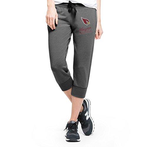NFL Arizona Cardinals Women's '47 Forward Stride Capri Pants, Shift Black, Large (Capri Cardinal)