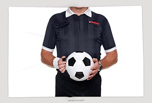 Supersoft Manta Polar Manta Tarjetas Photo de un o el fútbol y bola de celebración de un silbato de árbitro de fútbol...