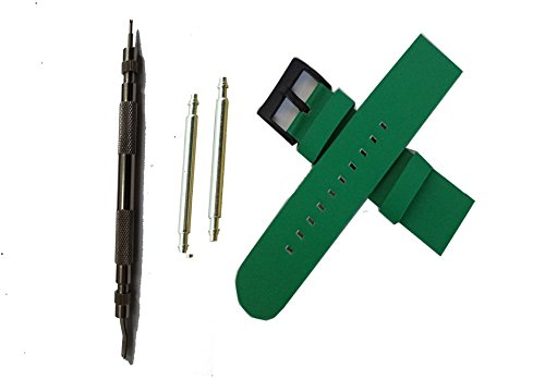 Replacement Leather Band for Lg G Watch R (olive green)