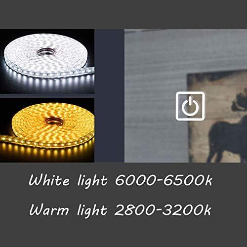 600x800 Mmセンサー付きLEDバスルームミラーライト+デミスター、バニティバックライト付き、大