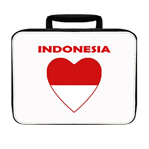 Heart Love Indonesia Insulated Lunch Box Bag by Style in Print