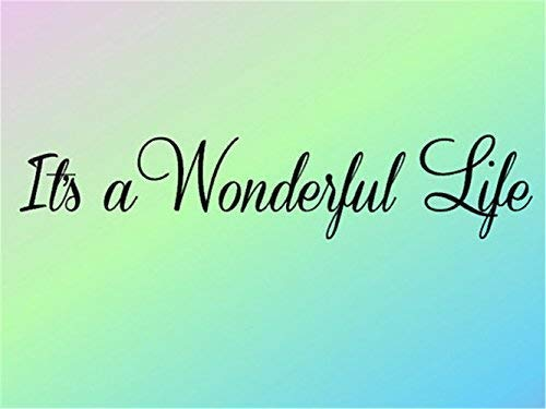 It's A Wonderful Life Bedroom Decal Bathroom Decal Bathroom Decor Wall Decals Quotes Vinyl Wall Stickers for Home Decorations