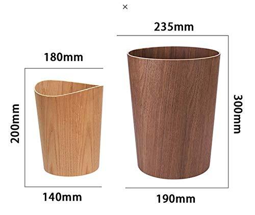 H-M-STUDIO Mülleimer Mülleimer Mülleimer   Desktop   Holztrompeten   Mülleimer   Keine   Autos   Und Papierkörbe. 8L Wellenförmige Schwarze Walnuss 18  14  20Cm 65a0aa