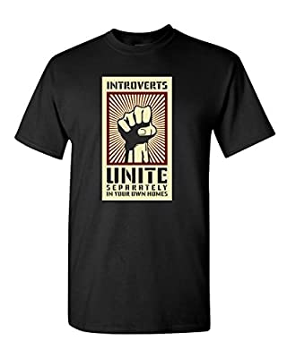 Thread Science Introverts Unite Sarcastic Nerd Loner Funny Humor Adult Men's T-Shirt Apparel
