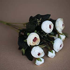 JIALELE Artificial Flowers,Fake Flower,Silk Flower The Living Room Decorative Flower Flower Flower Flower Camellia Simulation 9
