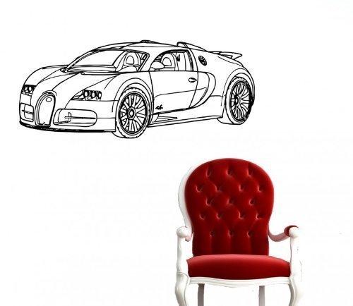 Amazon.com: Vinyl Decal Mural Sticker Bugatti Veyron Car Fast Ar795 ...