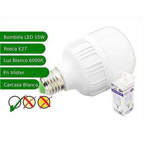 Jandei - Bombilla LED 15W rosca E27 luz 6000ºK blanco frio: Amazon.es: Iluminación