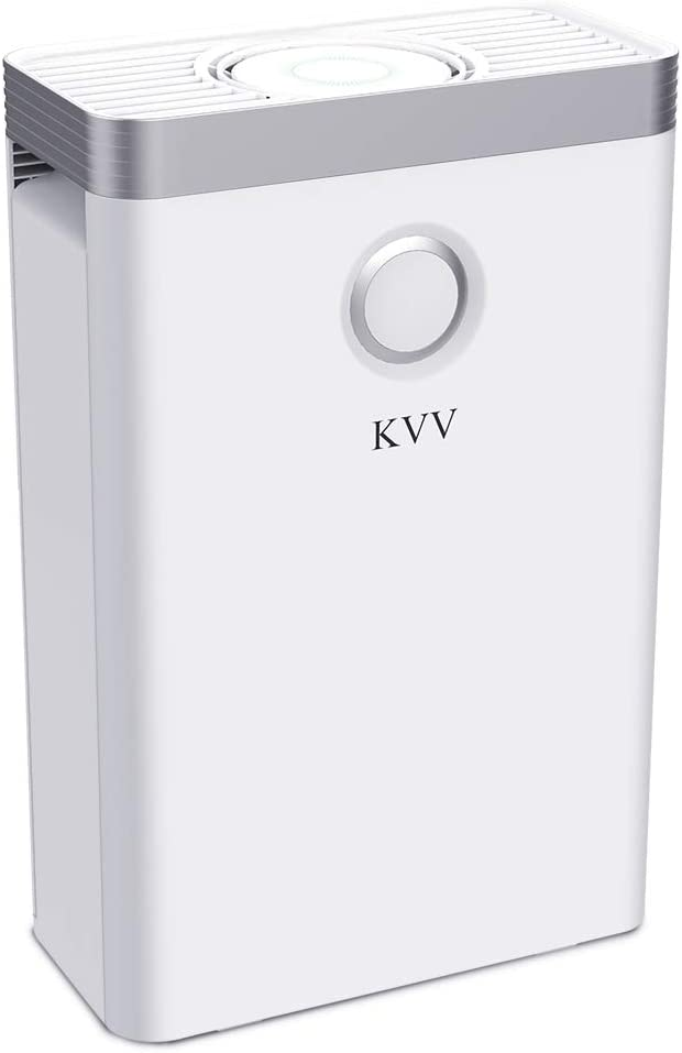 KVV Air Purifier with True HEPA Air Filter, Air Purifier for Bedroom, for Spaces Up to 550 Sq Ft, Perfect for Home/Office with Composite Filter