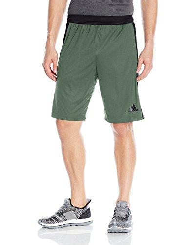 - adidas Men's Designed-2-Move 3-Stripe Shorts, Trace Green/Utility Black, X-Large