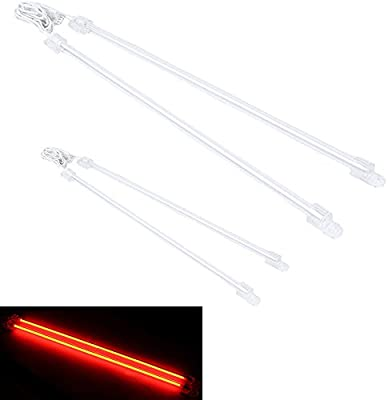 E Support/™ 6 Inch 12 Inch 15cm 30cm Car White Undercar Underbody Neon Kit Lights CCFL Cold Cathode Pack of 4