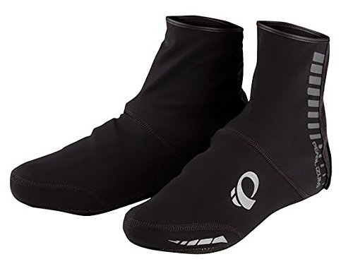 Pearl Izumi Elite Softshell Shoe Cover Black L & Gloves Bundle (Shell Soft Glove Elite)