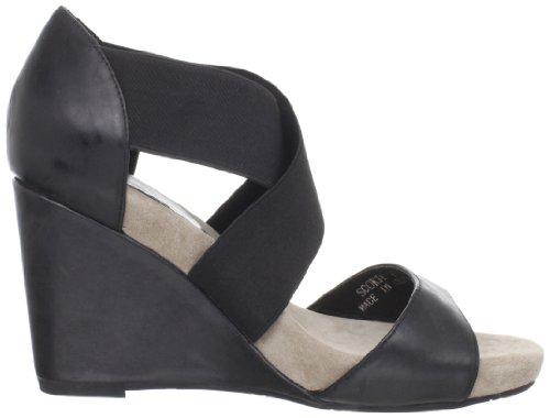 Chocolat Blu Womens Sookie Wedge Sandaal Zwart