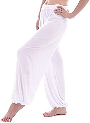 TOOGOO(R)))))))))) Pantalones de Yoga Pantalones Bombachos Modales Sueltos Pantalones de Sudor de Corredores de Haren Tai chi casa Tanto Hombres como ...