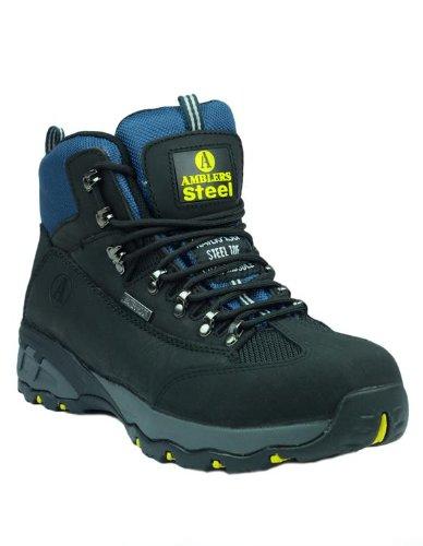 Amblers Steel FS161Herren Sicherheitsstiefel Schnürschuh wasserdicht Farbige Sohle Schuhe