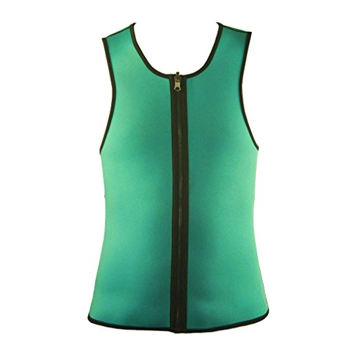 Men's Neoprene Slimming Vest Shirt With Zip For Burn More Fat/Weight Loss/Workout/Sport/Training/Body Fitness (L) (Thermogenic Creme)