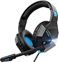 Mpow EG10 Gaming Headset for PS4, PC, Xbox One, Ultra Light Over Ear Headphones with Noise Cancelling Mic, PC Headset...