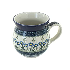Blue Rose Polish Pottery Blue Posy Bubble Mug