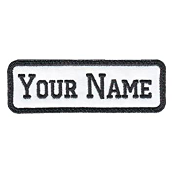 789e1d6be732 Rectangular 1 Line Custom Embroidered Name Tag Sew-On Patch (E)