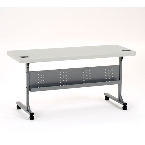 Mobile Seminar Tables - National Public Seating Flip-N-Store Lightweight Table
