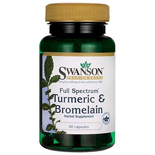 Swanson Full Spectrum Turmeric Bromelain 60 Caps